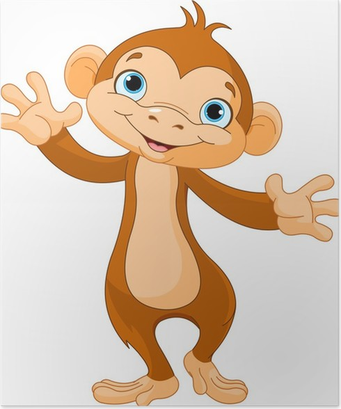 baby monkey poster wall decals