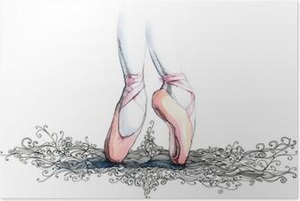 Poster Balet danser (reeks C)