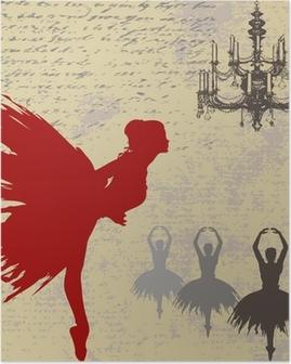 Ballerina Background Poster