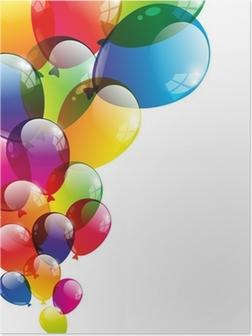 Poster Ballon achtergrond