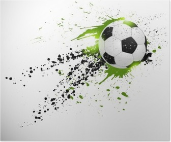 Poster Ballon de football en vol