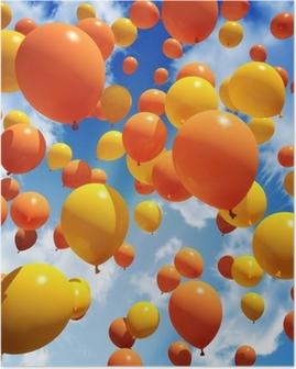 Poster Balloon est libéré dans le ciel