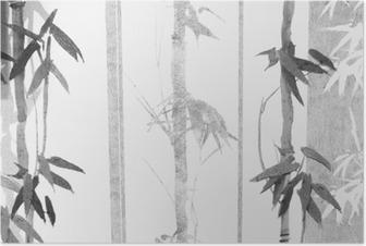 Poster Bamboo texture