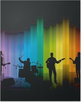 Poster Band op het podium