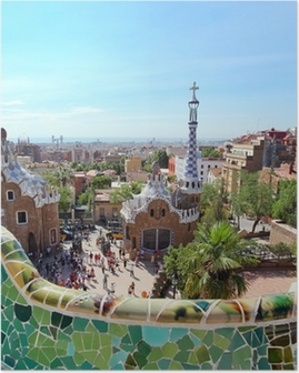 BARCELONA, SPAIN : The famous Park Guell Poster