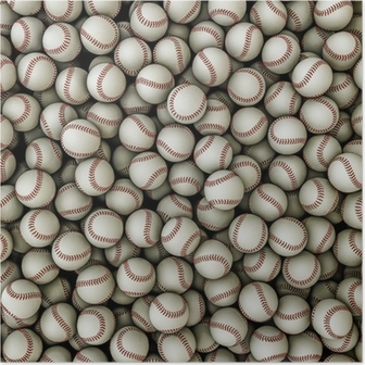 Baseballs background Poster