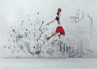 Poster Basketballer