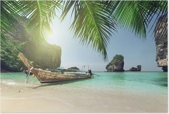 Poster Bateau à l'île Phi Phi, en Thaïlande