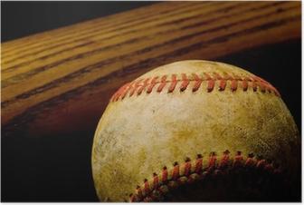 Poster Batte de baseball et de balle