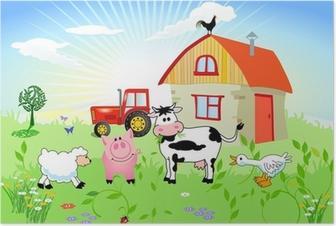 Bauernhof-Tiere Poster