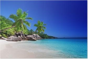 beach at Praslin island, Seychelles Poster