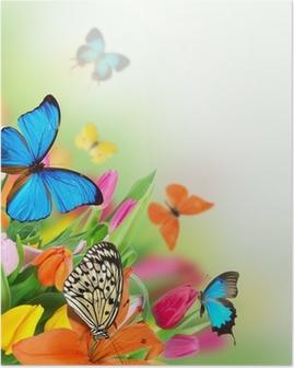 Poster Beau bouquet de tulipes