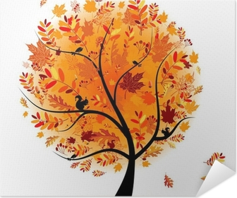 Beautiful autumn tree for your design Poster