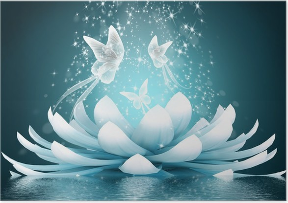Beautiful lotus flower poster pixers we live to change beautiful lotus flower poster butterflies mightylinksfo
