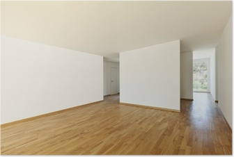 Beautiful New Apartment Interior Empty Room Poster