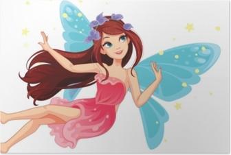 Poster Belle fée volante