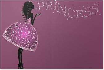 Poster Belle robe de princesse avec des paillettes