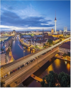 Berlin, Germany Skyline Scene Poster