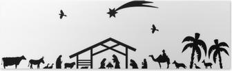 Bethlehem silhouette Poster
