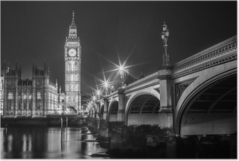 Poster Big Ben Clock Tower en het Parlement huis