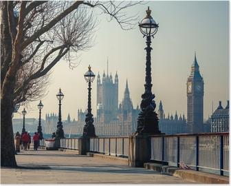 Póster Big Ben y las Casas del Parlamento, Londres