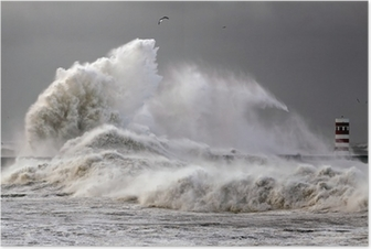 Big Waves Poster
