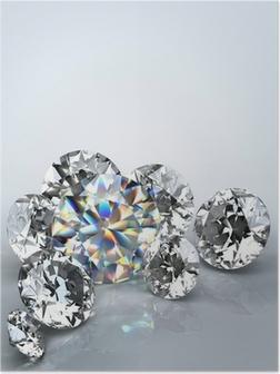 Poster Bijou de diamant isolé
