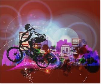 Poster Biker. Vecteur