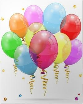 Birthday Balloons Poster
