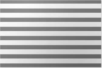 Poster Blanc et gris rayé