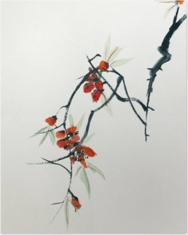 Poster Bloeiende sakura