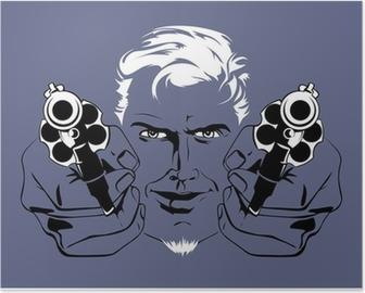 blond gangster man Poster