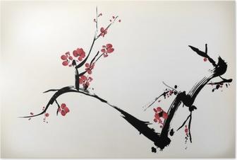 Poster Blossom målning