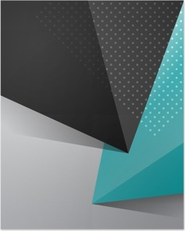 Blue and black abstract design background Poster