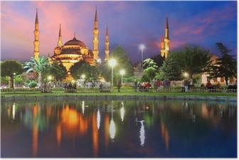 Blue mosque in Istanbul - Turkey Poster