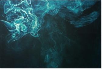 Bluish-green smoke Poster