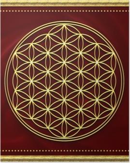 Blume des Lebens Gold Poster