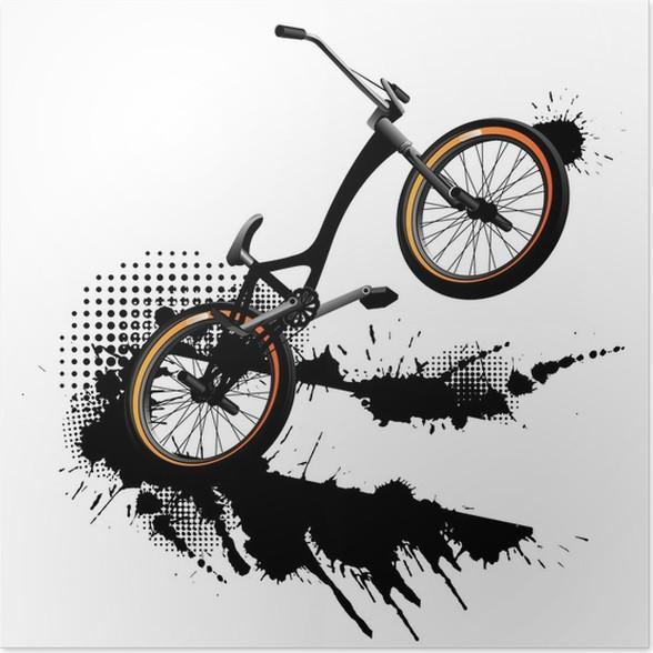 Póster Bmx bicicleta de fondo del grunge • Pixers® - Vivimos para ...