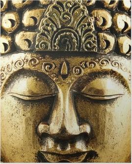 Poster Boeddha goud Achtergrond
