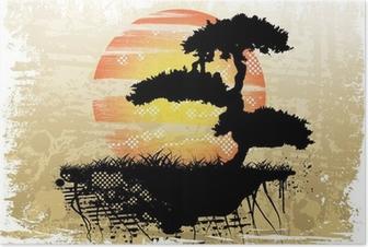 Bonsai background Poster