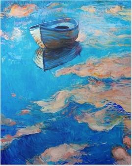 Poster Boot op zee