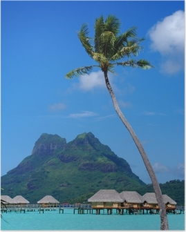 Poster Bora Bora paysage
