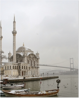 Bosphorus Bridge and Ortakoy Mosque in Istanbul Turkey Poster