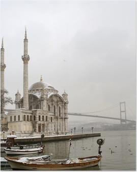 Bosphorus Bridge and Ortakoy Mosque in Istanbul Turkey Poster