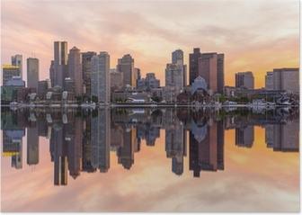Boston downtown skyline panorama Poster