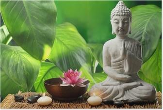 Poster Bouddha en méditation