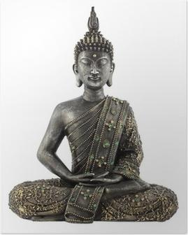 Poster Bouddha statue de bronze zen
