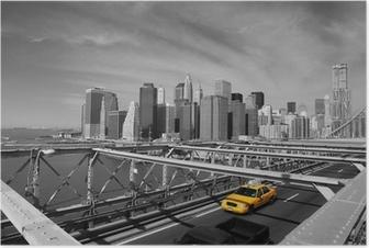 Poster Brooklyn Bridge Taxi, New York