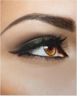Brown Eye Makeup. Eyes Make-up Poster