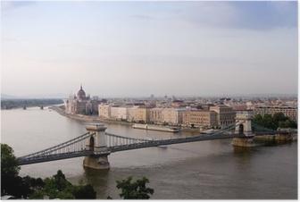 Poster Budapest, Hongrie
